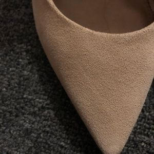 H&M Shoes - H&M Real Suede Nude Heels - Size 6